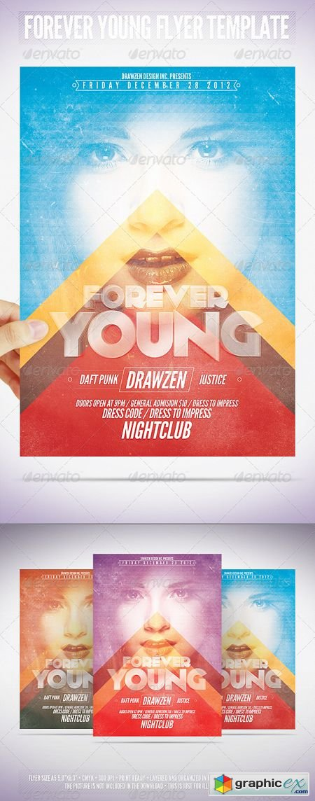 Forever Young Flyer Template 3552430