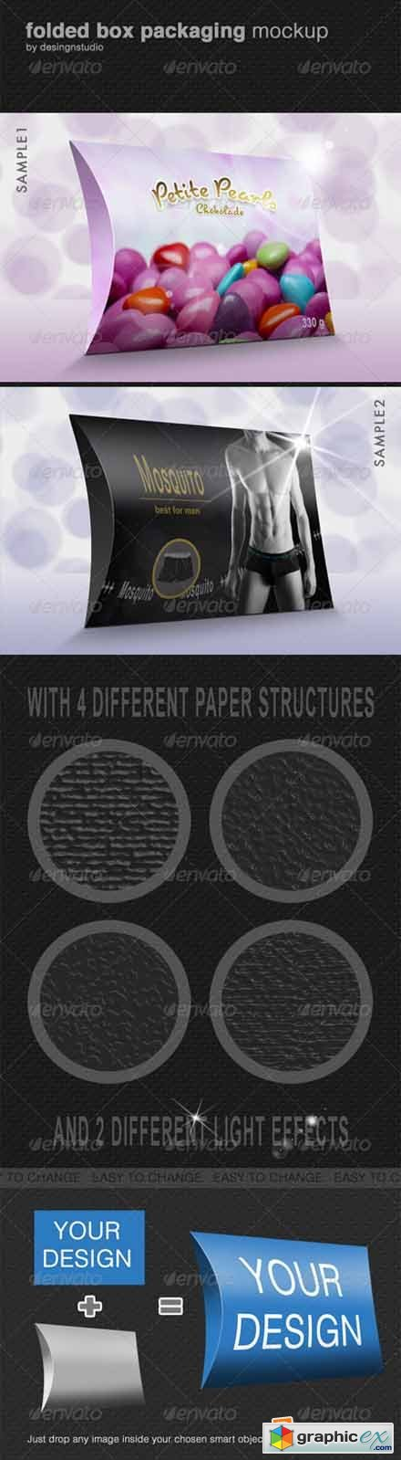 Folded Box Packaging Mock-Up 649244