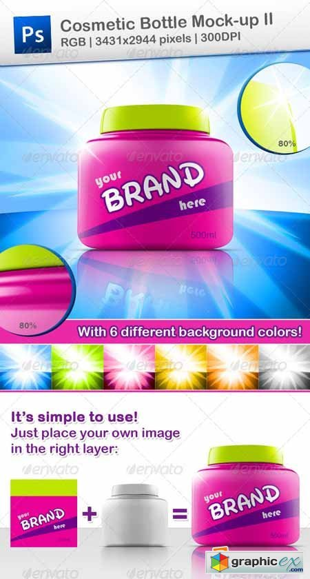 Cosmetic Bottle Mock-up II 639653