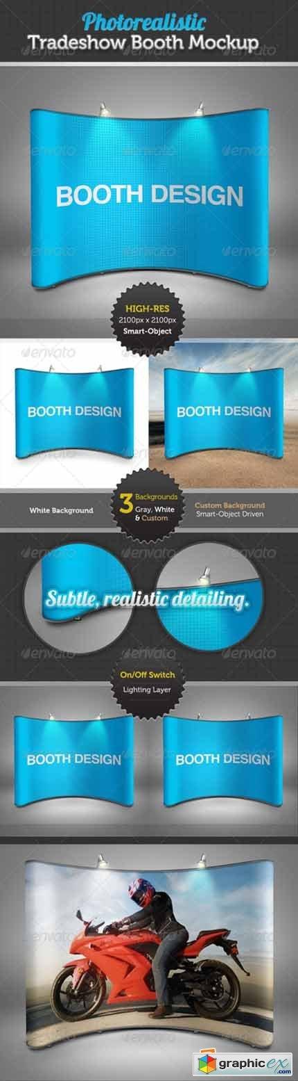 Tradeshow Display Booth Mockup 3639483 » Free Download Vector Stock
