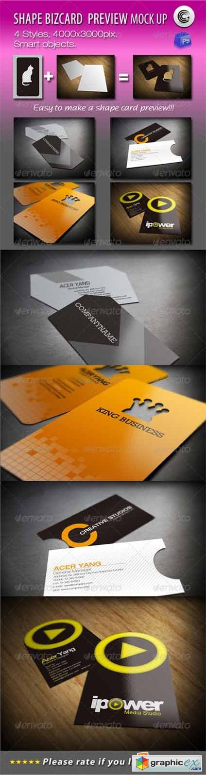 Shape BizCard Preview Mock-ups 751908