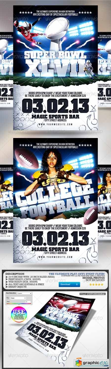 Super Bowl/College Football Flyer 3797688