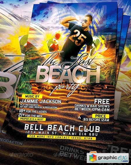 Last Beach Party Flyer Template 561404