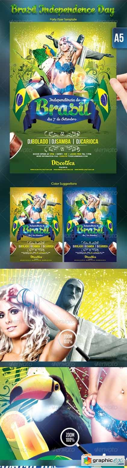 Brasil Independence Day Flyer Template 2800528