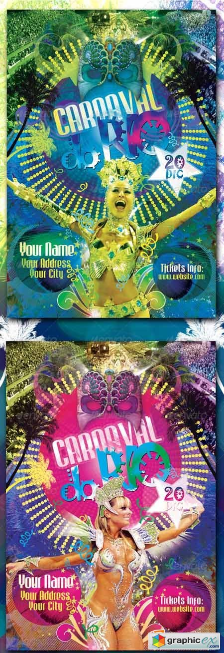 Carnaval Do Rio Flyer Template 759052