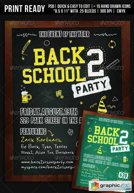 Back 2 School Party - Flyer 478959