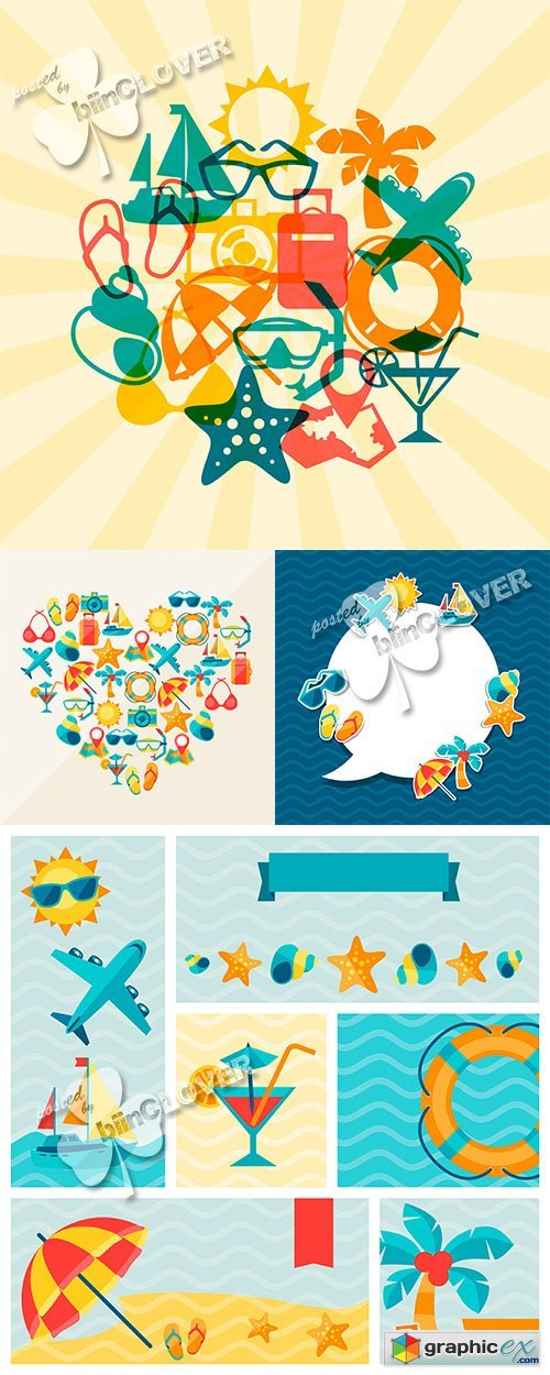 Vector Travel and tourism background 0575