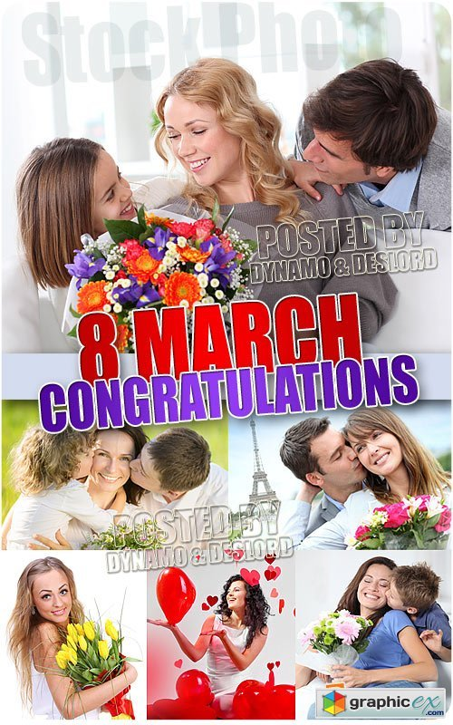 8 Marth congratulations - UHQ Stock Photo