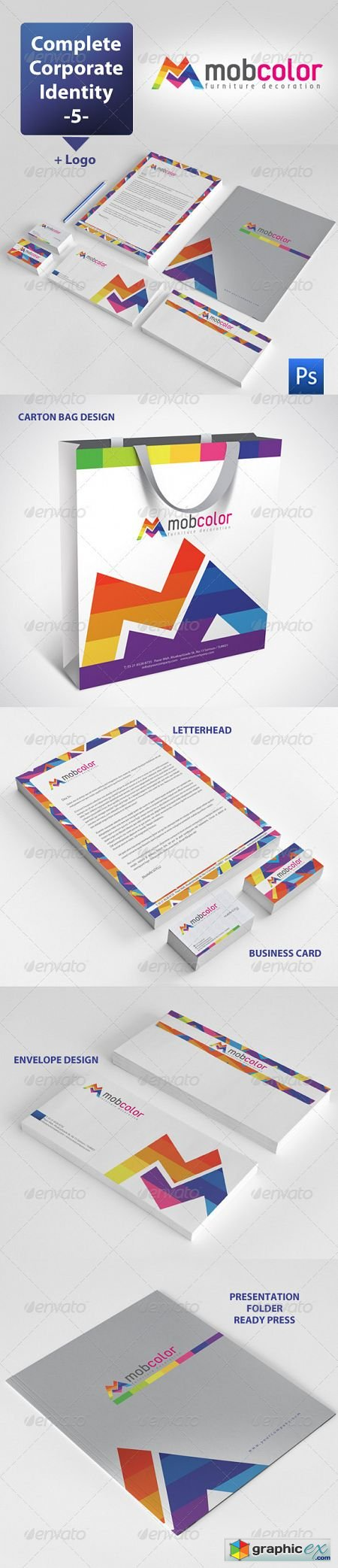 Mobcolor Corporate Identity Package