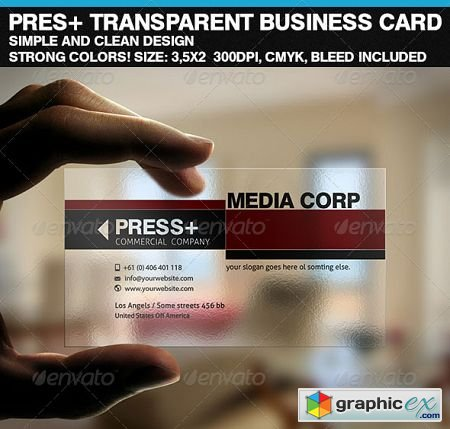 PresCorp Transparent Business Card