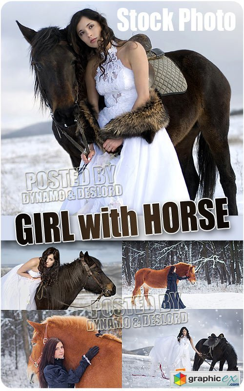 Girl with horse - UHQ Stock Photo