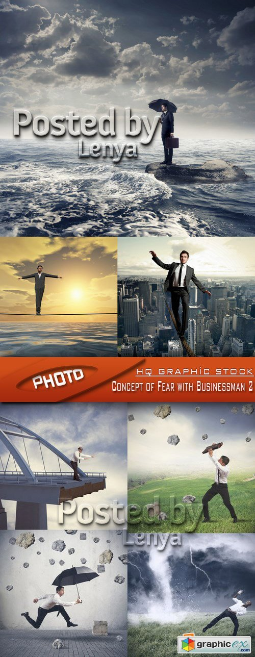 Stock Photo - Concept of Fear with Businessman 2