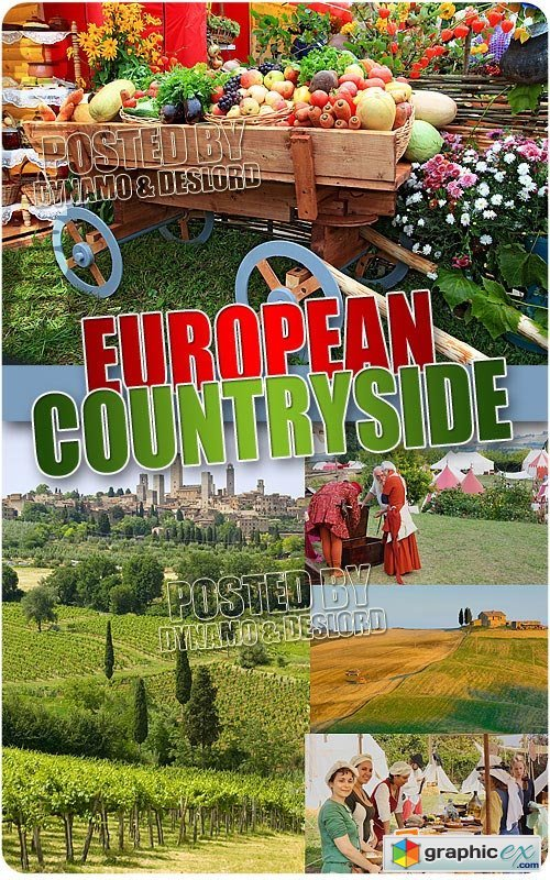 European countryside - UHQ Stock Photo