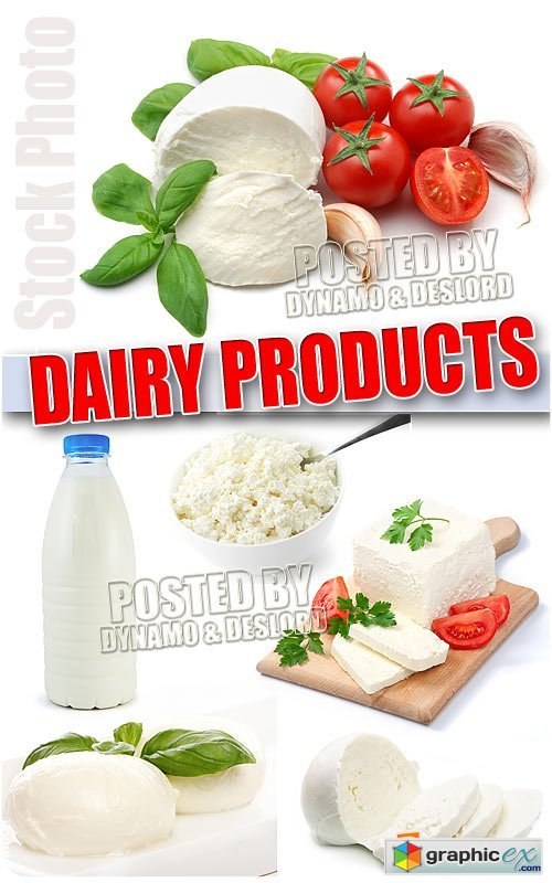 Dairy products - UHQ Stock Photo