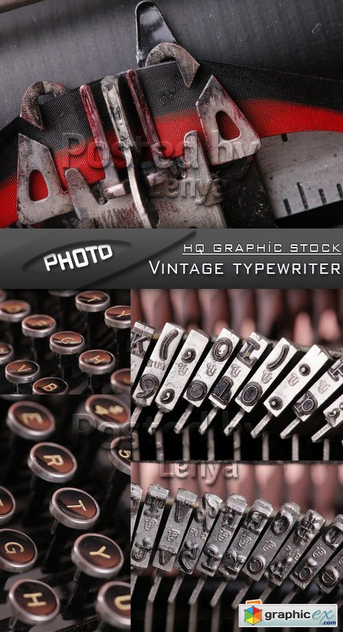 Stock Photo - Vintage typewriter