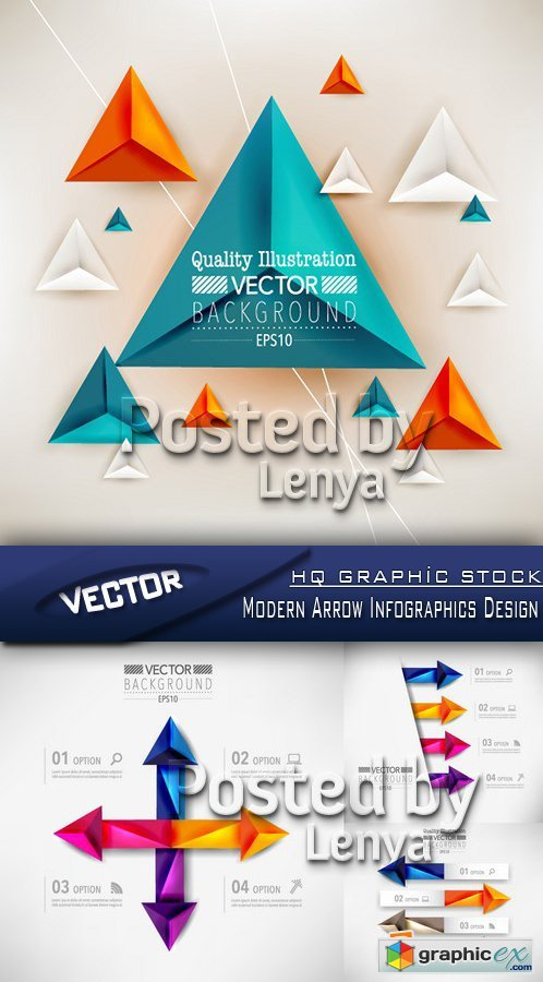 Stock Vector - Modern Arrow Infographics Design
