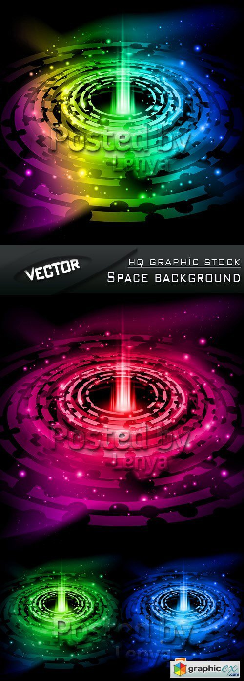 Stock Vector - Space background