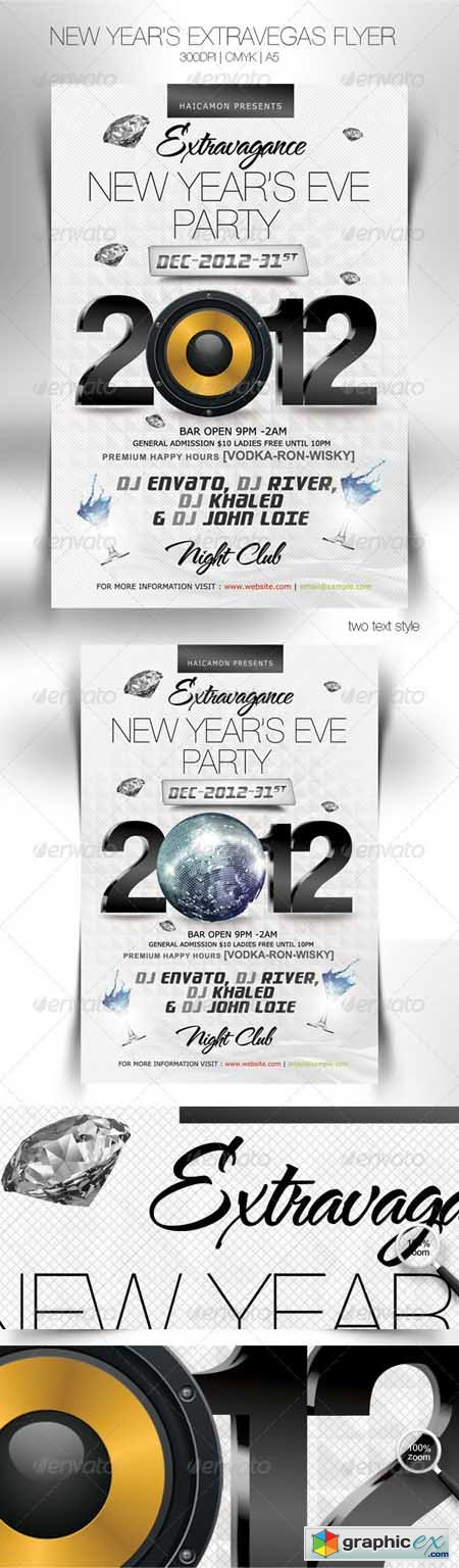 New Year's Extravegas Party Flyer 1142486