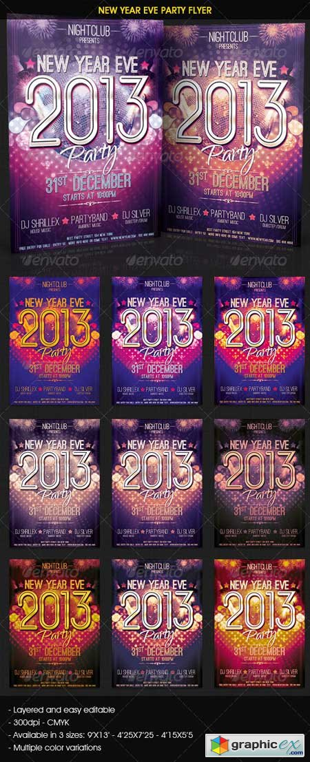 New Year Eve Party Flyer 3586825