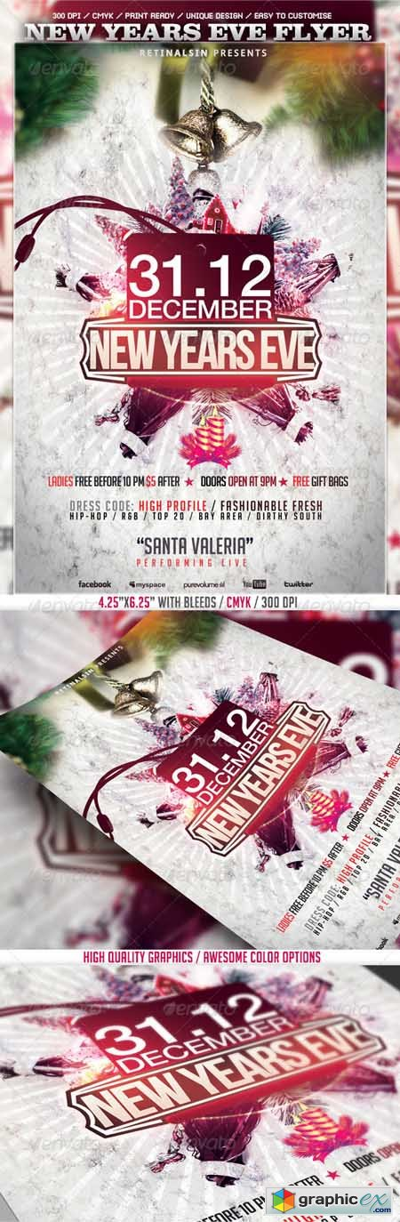 New Years Eve Flyer Template 3581682
