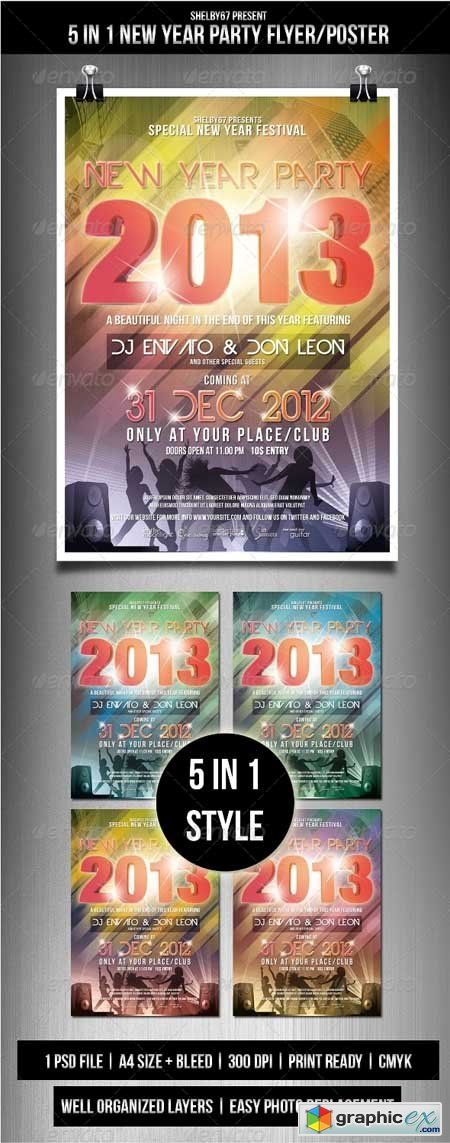 New Year Party Flyer / Poster 3563275