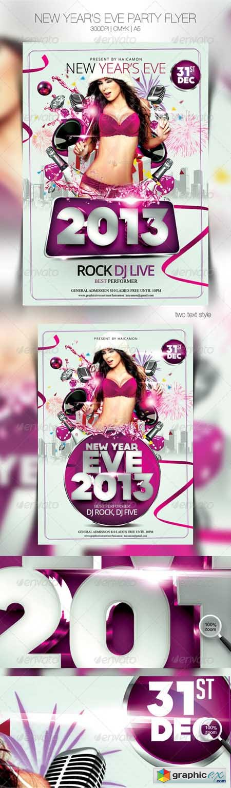 New Year's Eve Party Flyer 3525572