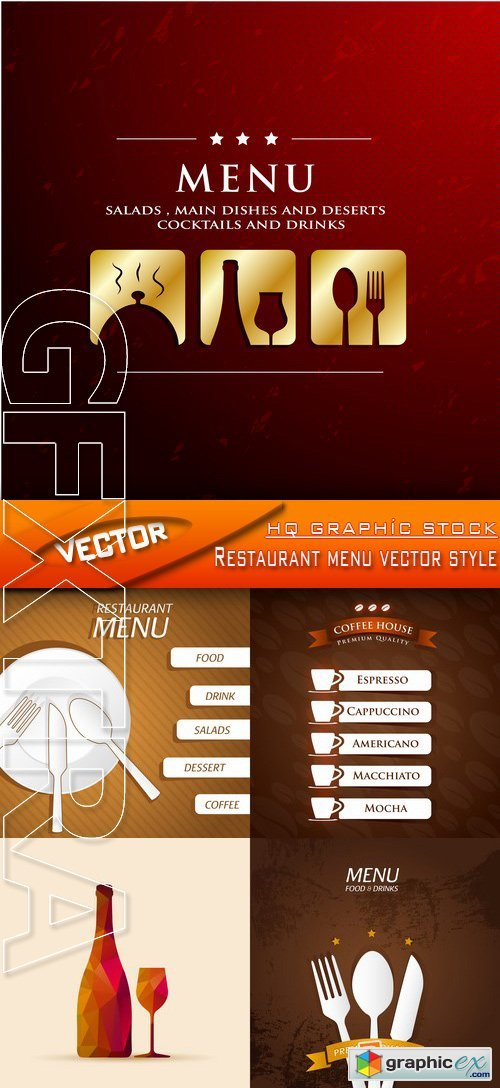 Stock Vector - Restaurant menu vector style