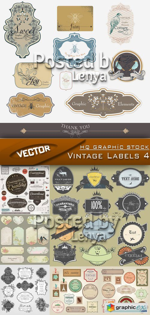 Stock Vector - Vintage Labels 4