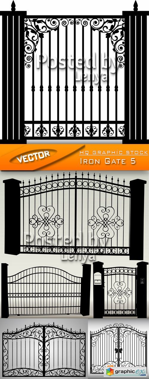 Stock Vector - Iron Gate 5