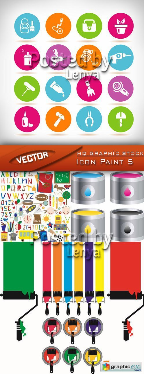 Stock Vector - Icon Paint 5