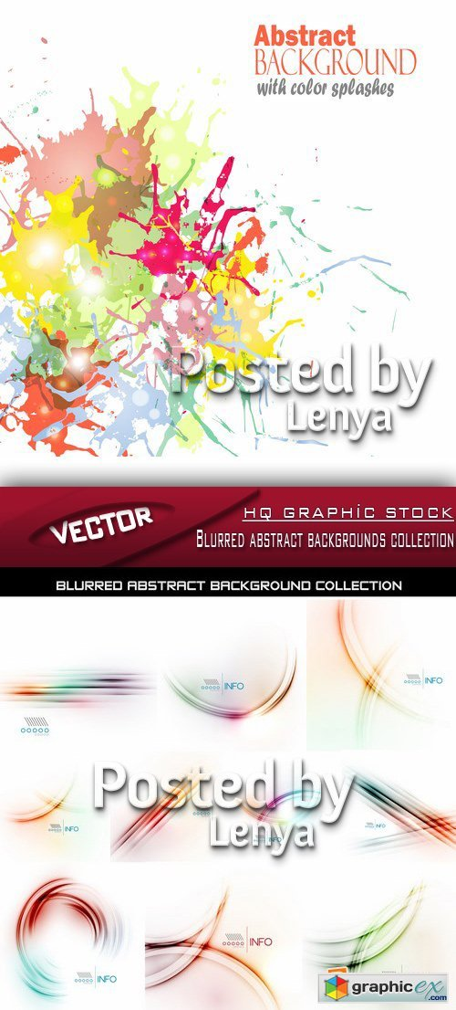 Stock Vector - Blurred abstract backgrounds collection