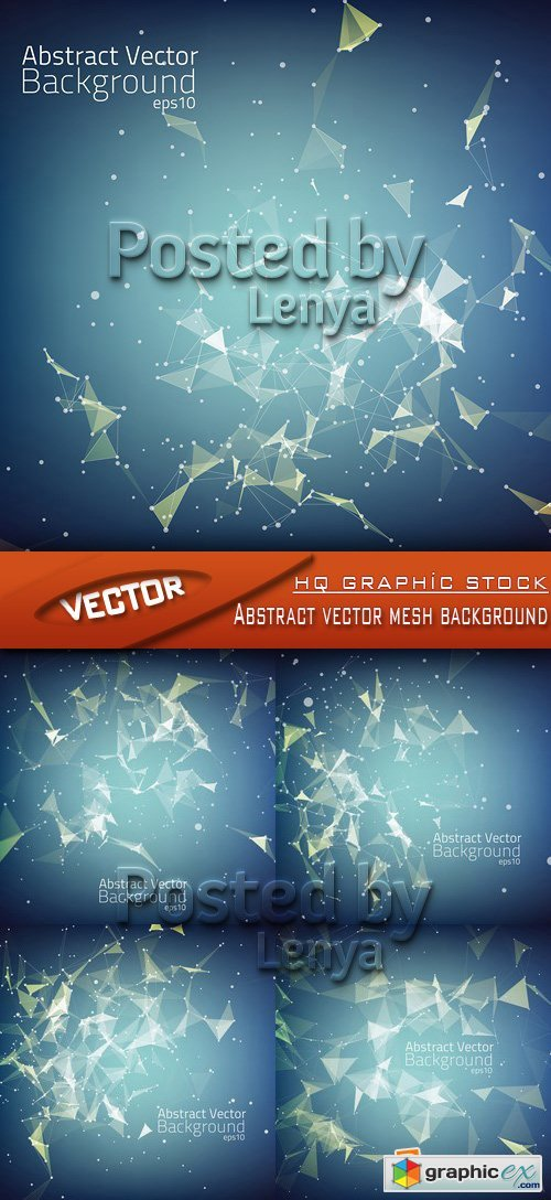 Stock Vector - Abstract vector mesh background