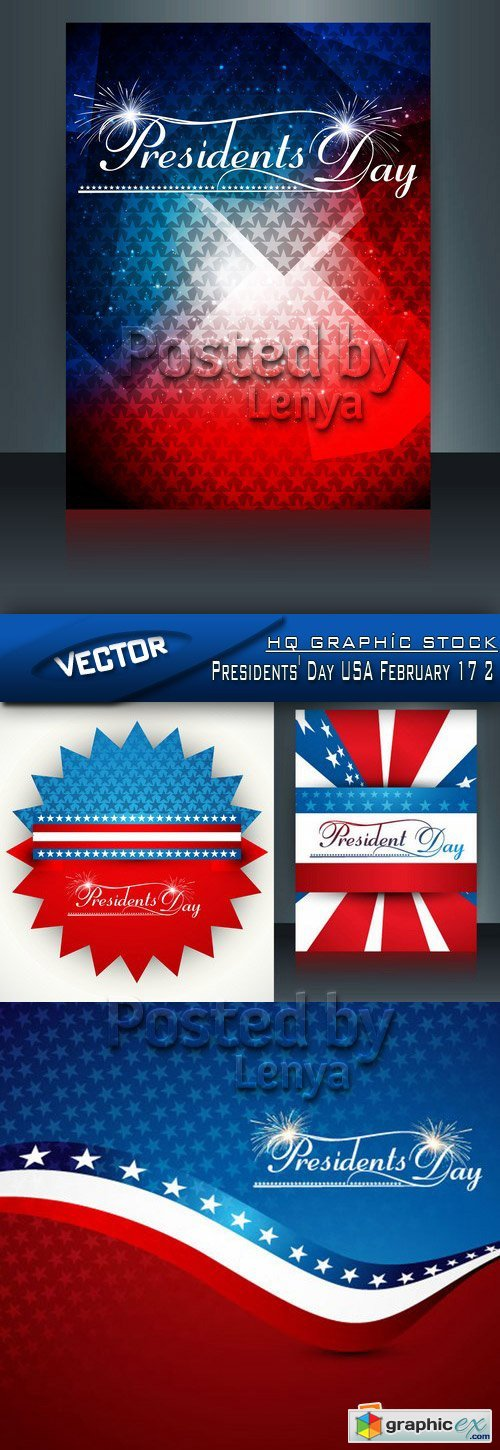 Stock Vector - Presidents' Day USA February 17 2