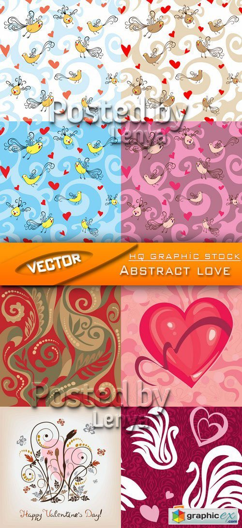 Stock Vector - Abstract love
