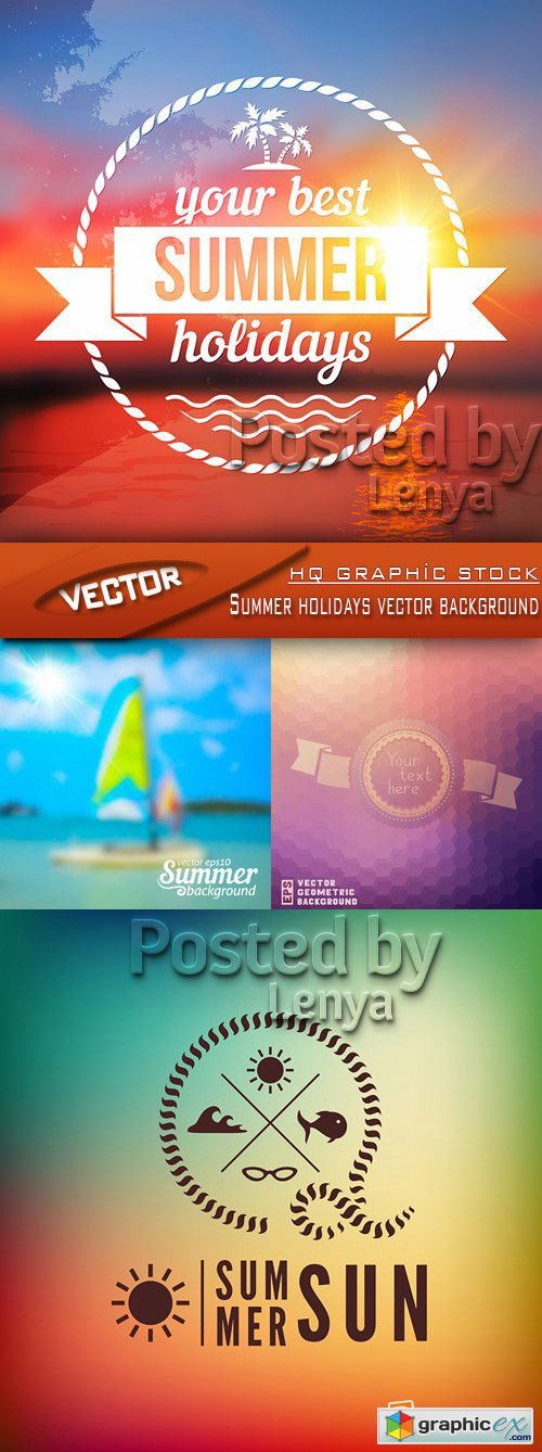 Stock Vector - Summer holidays vector background