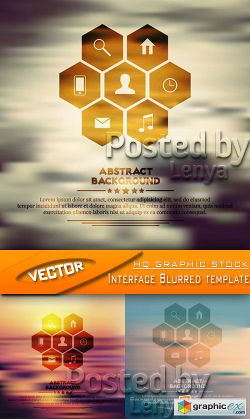 Stock Vector - Interface Blurred template
