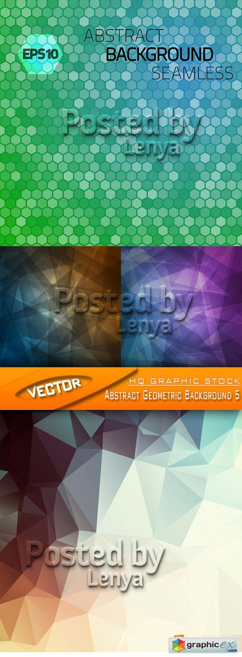 Stock Vector - Abstract Geometric Background 5
