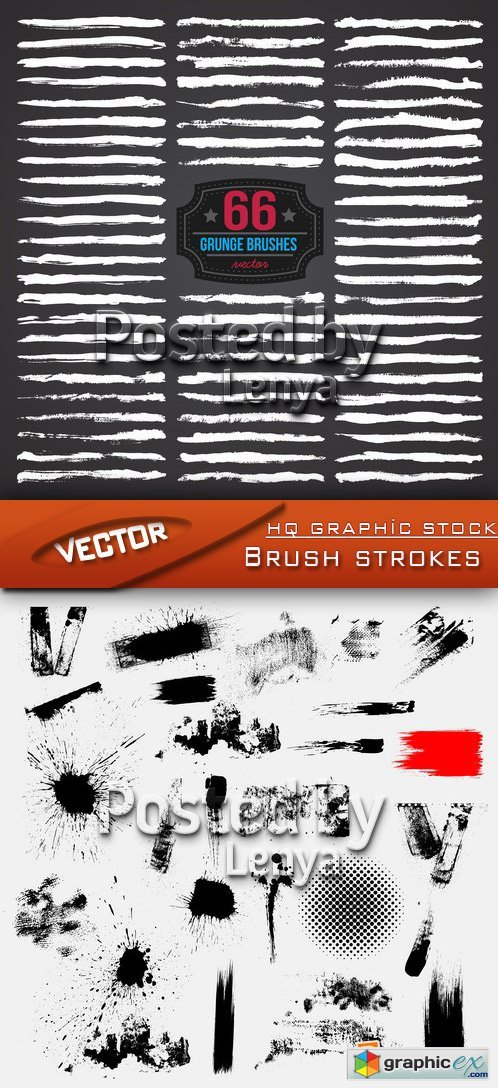 Stock Vector - Brush strokes
