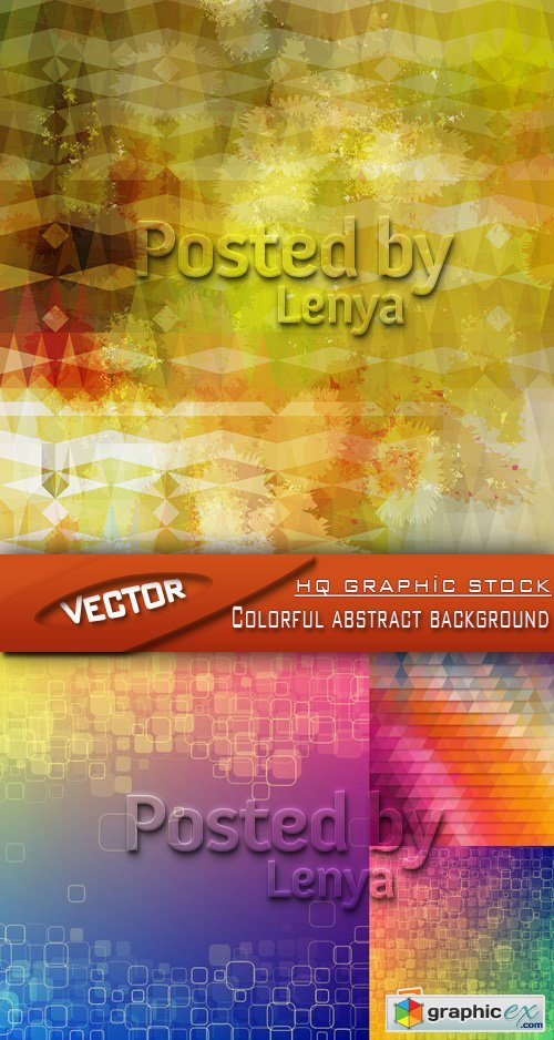 Stock Vector - Colorful abstract backgrounds