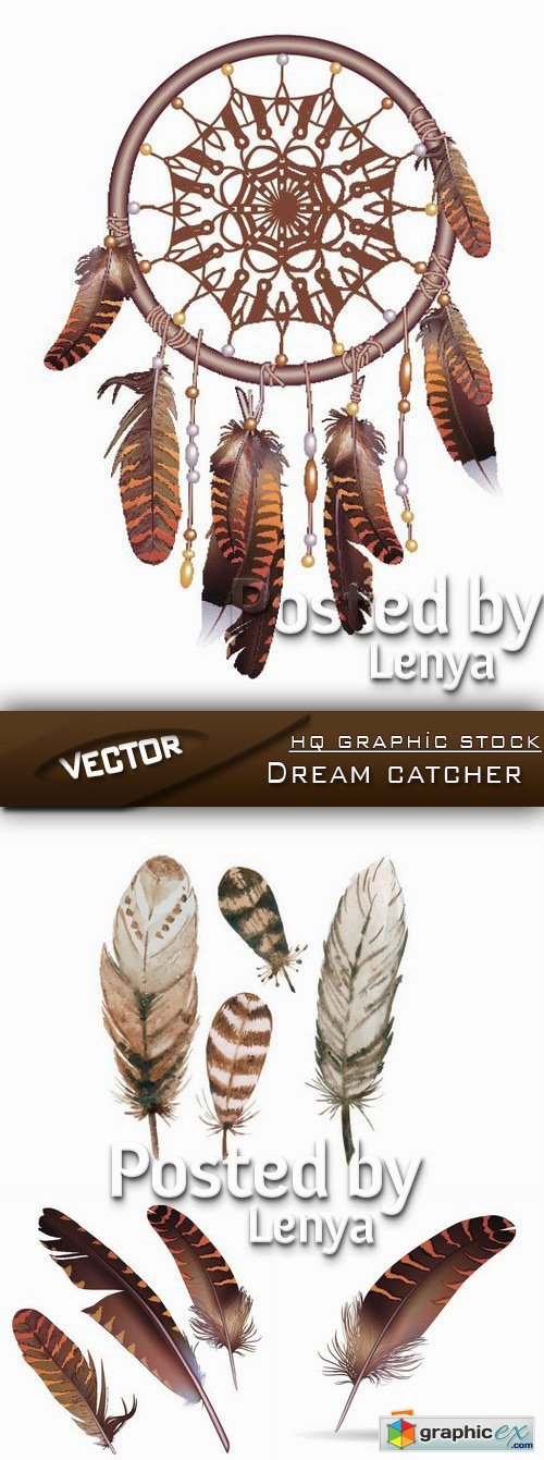 Stock Vector - Dream catcher
