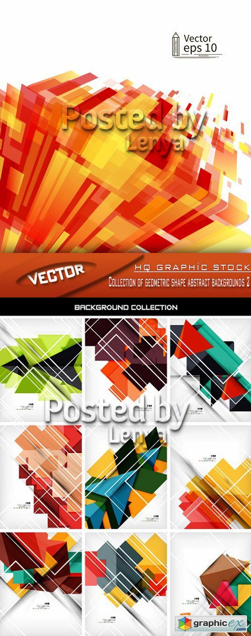 Stock Vector - Collection of geometric shape abstract backgrounds 2