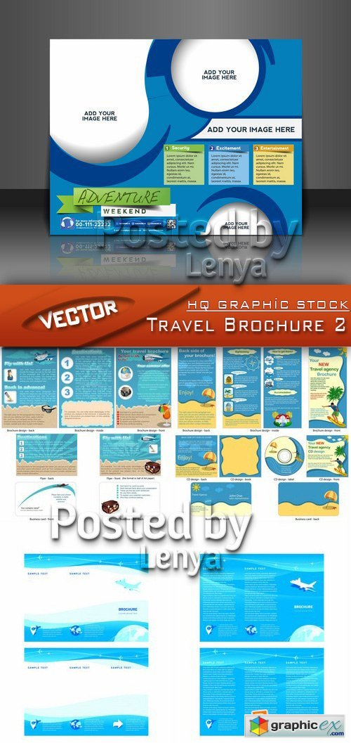 Stock Vector - Travel Brochure 2