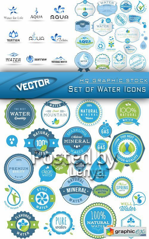 Stock Vector - Set of Water Icons 3