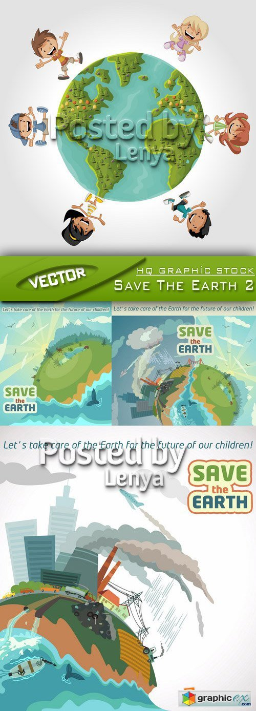 Stock Vector - Save The Earth 2
