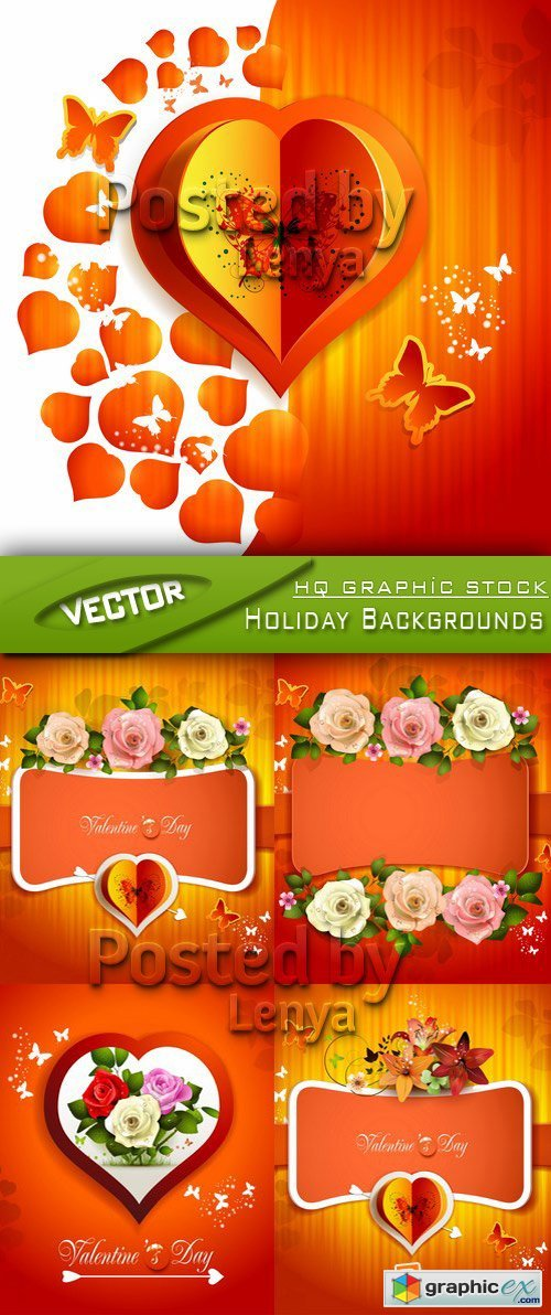 Stock Vector - Holidays Backgrounds