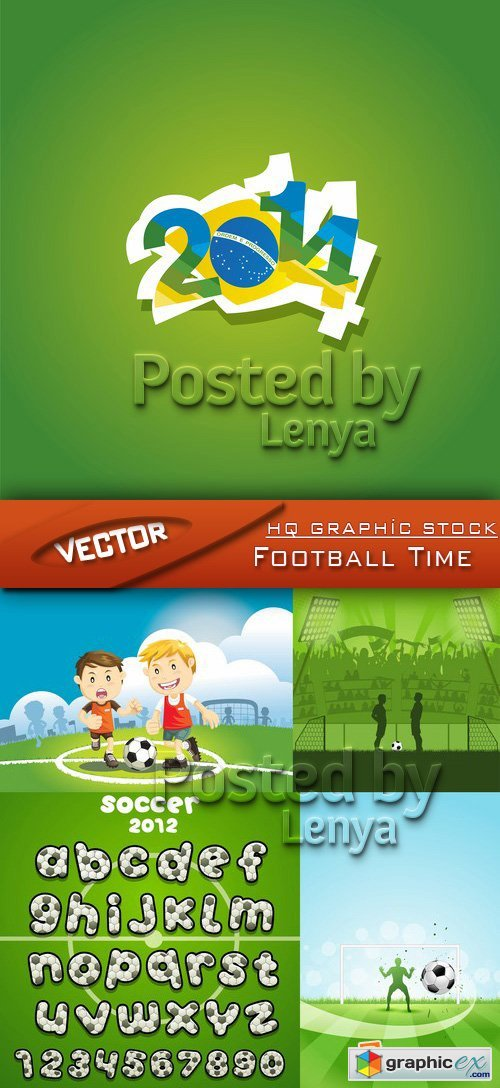 Stock Vector - Football Time