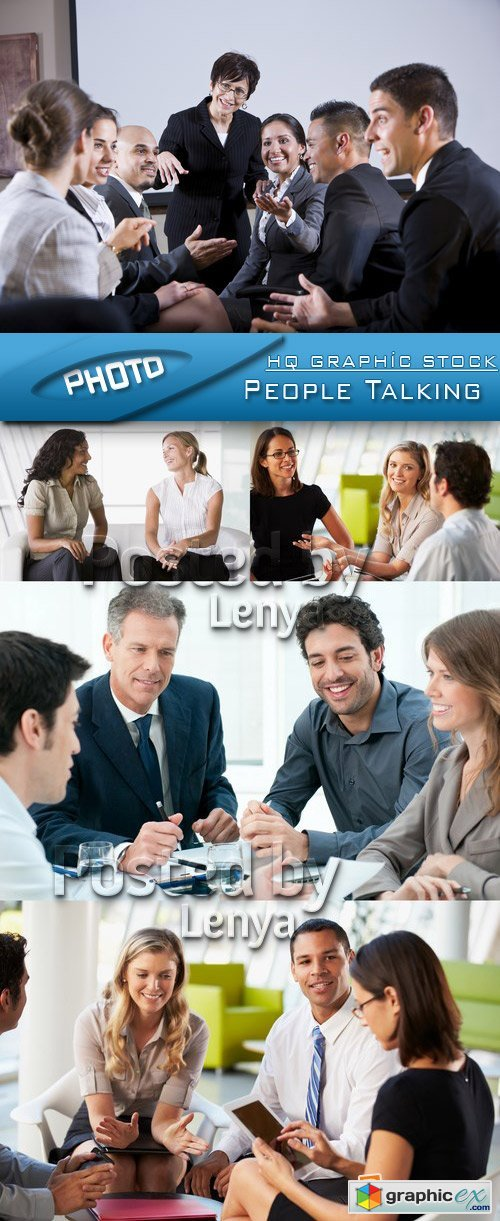 Stock Photo - People Talking