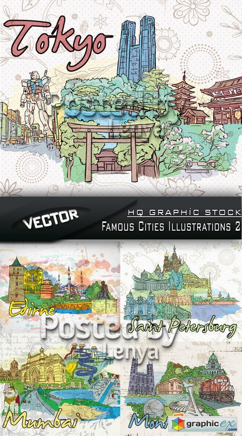 Stock Vector - Famous Cities Illustrations 2