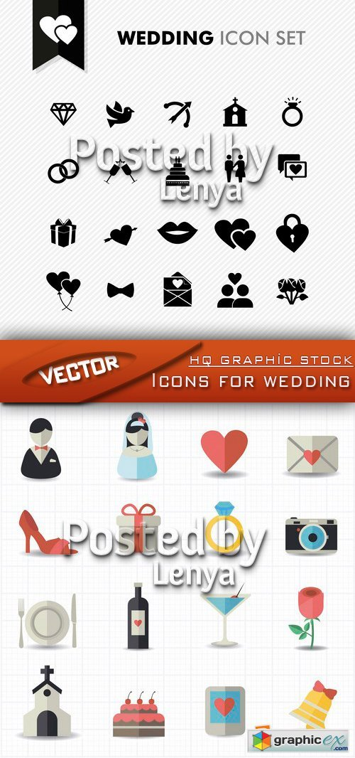 Icons for wedding