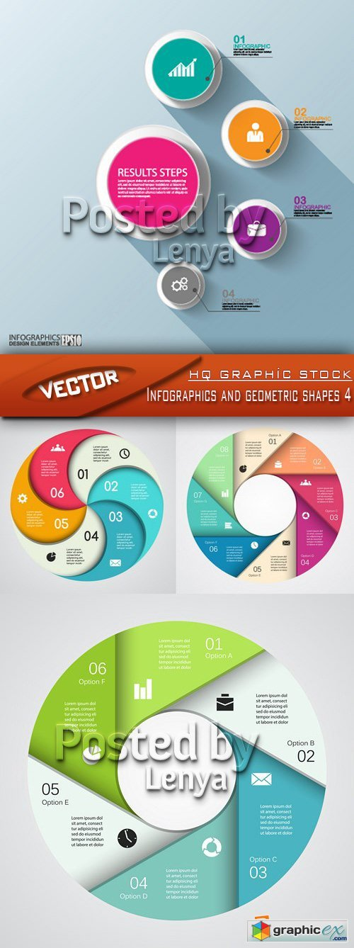 Stock Vector - Infographics and geometric shapes 4